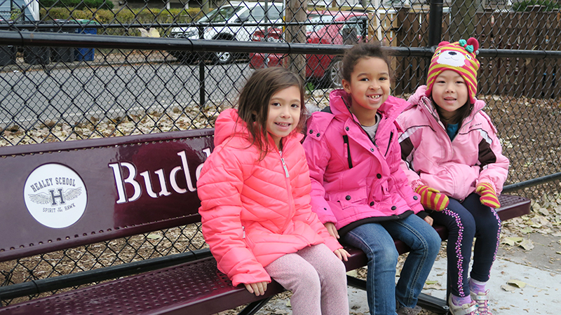 students on the Buddy Bench