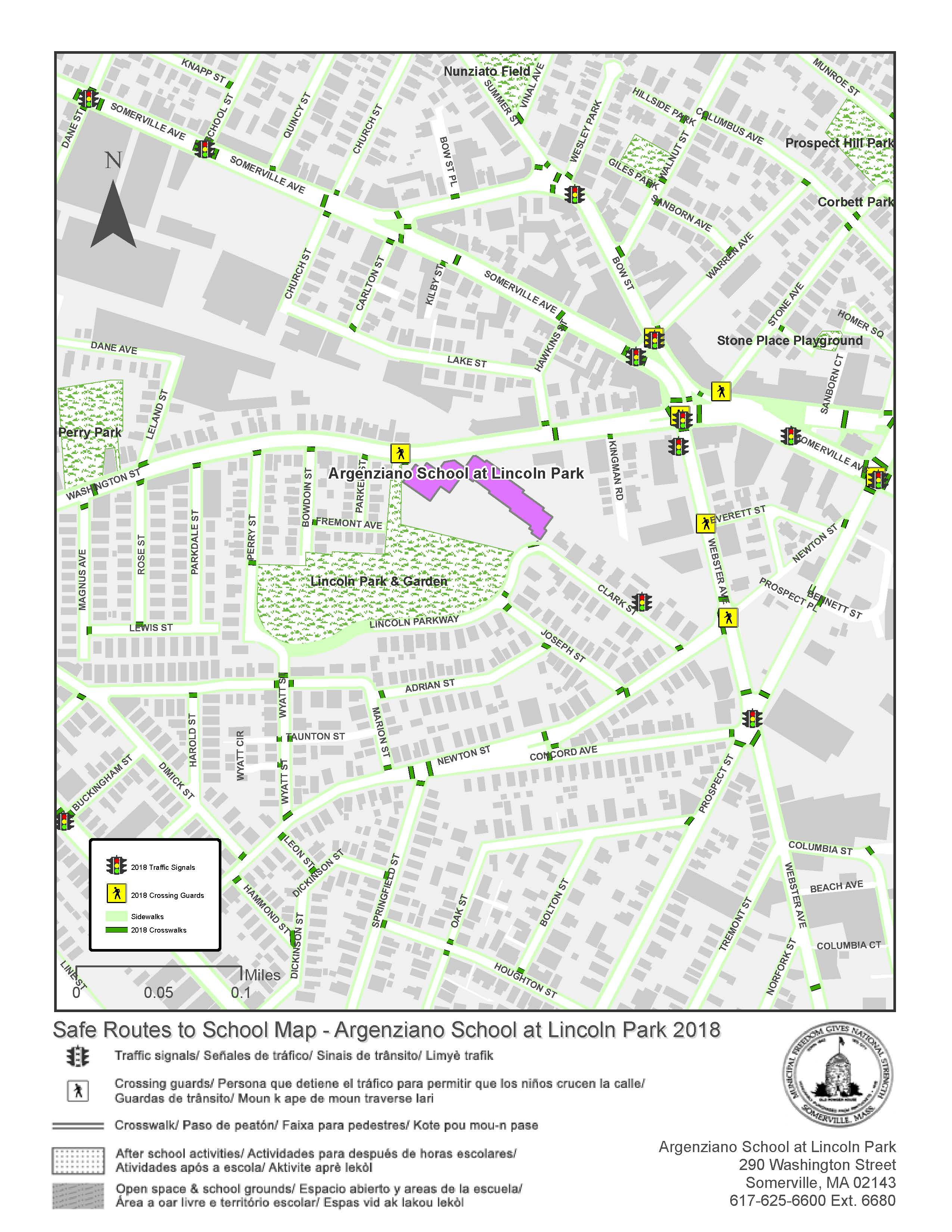 Argenziano Safe Routes to Schools map