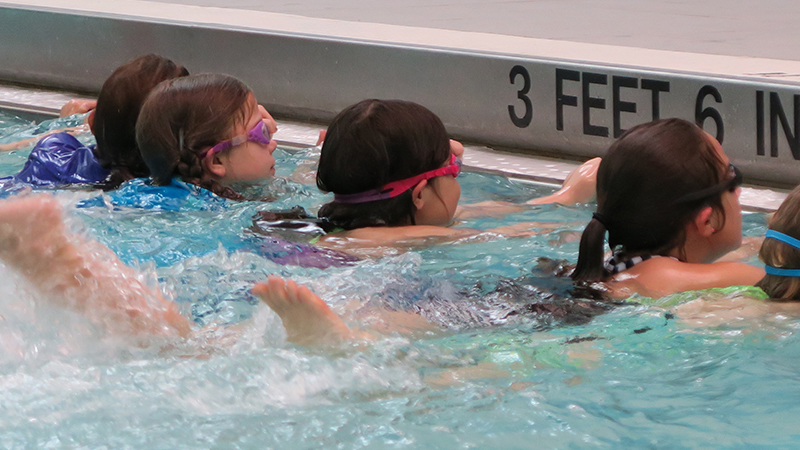 swimming students