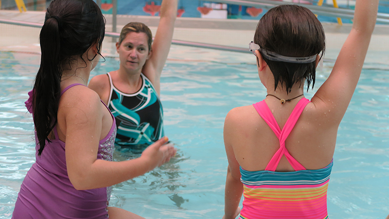 Students in Swim Class
