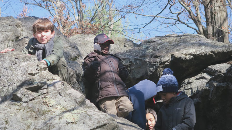 Students at Panther Cave