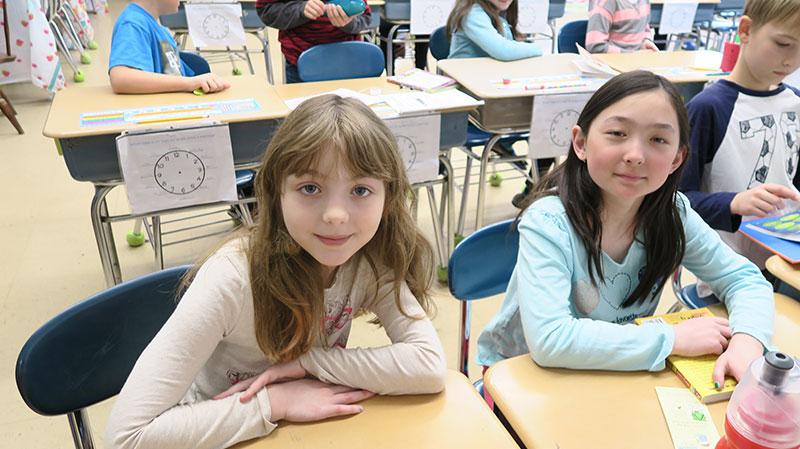 Brown School students at their desks