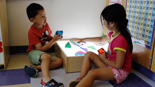 Preschoolers interacting