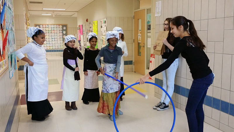 Argenziano Students participate in Colonial Day