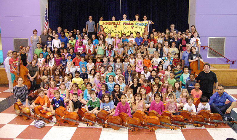 Group photo of Summer String Camp participants