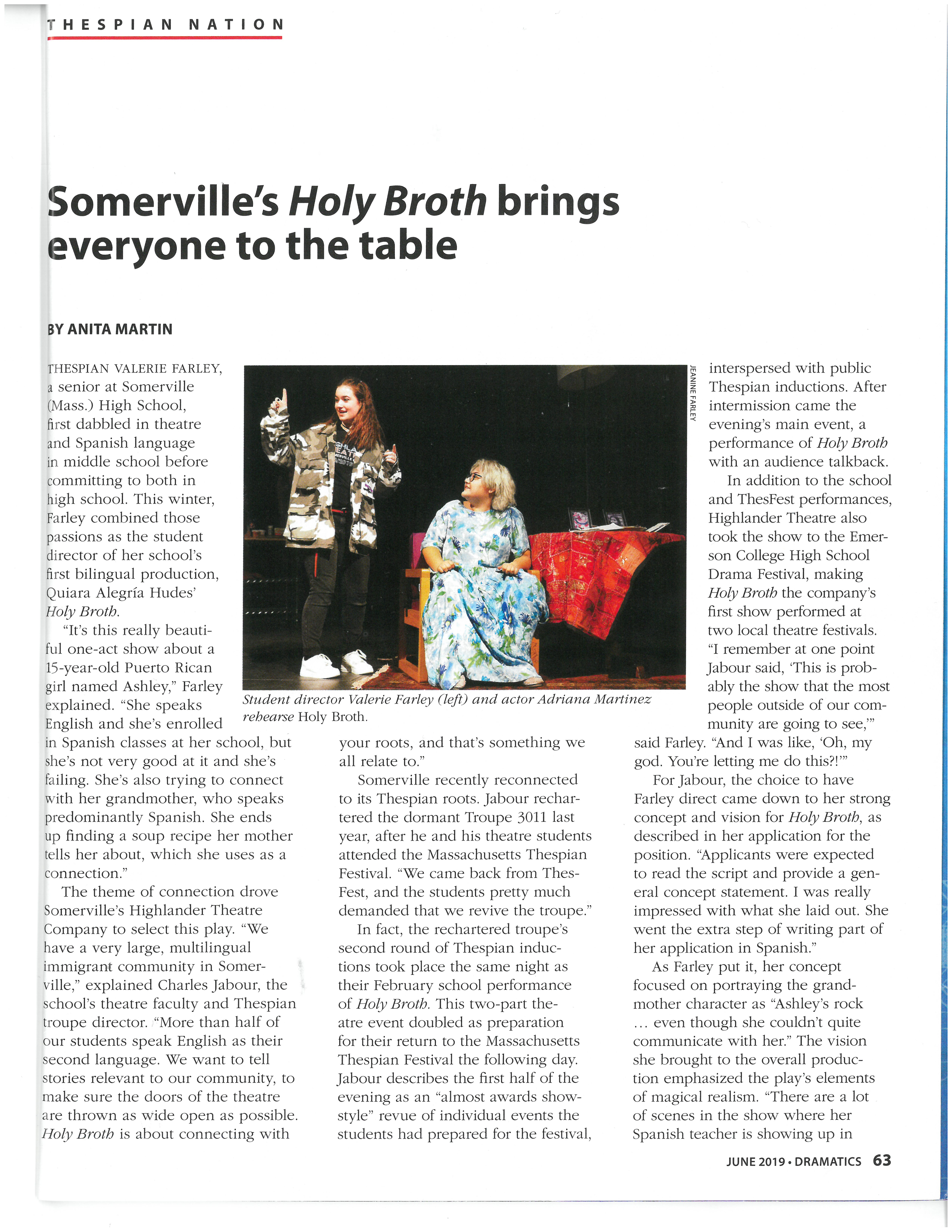 Holy Broth article, page 1