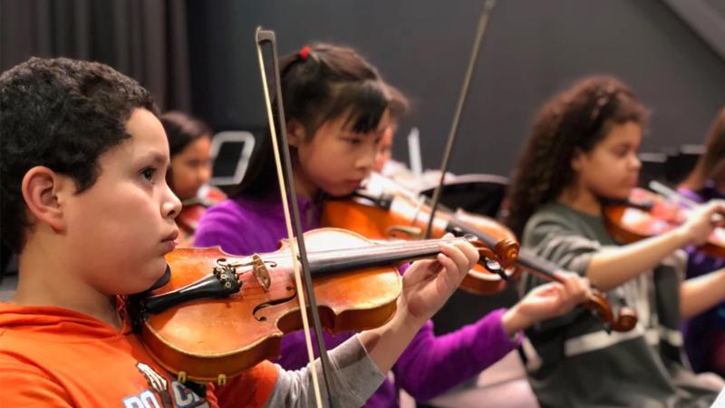 El Sistema Strings Instrument Students