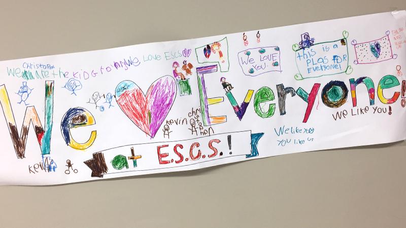We Love Everyone - student artwork