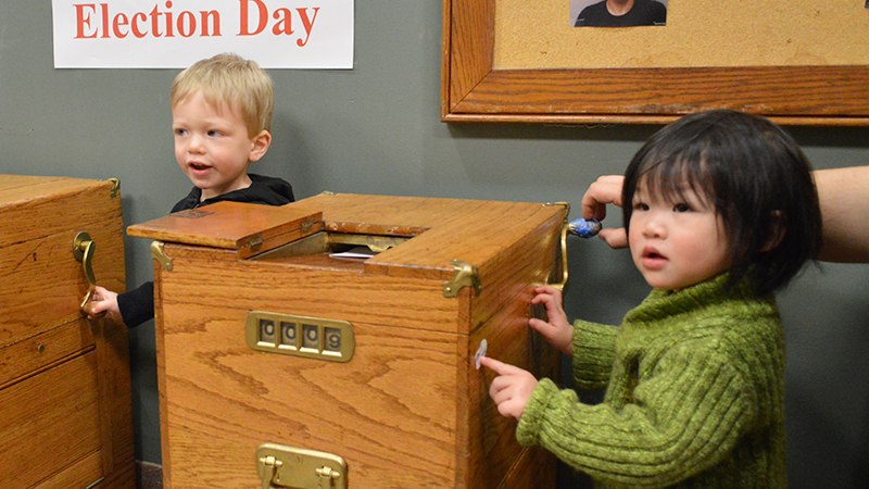 Toddlers at Social Story event at City Hall