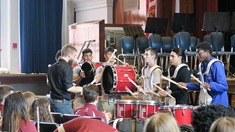 Drumline students