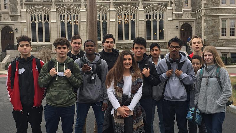 Sophomores visiting Boston College