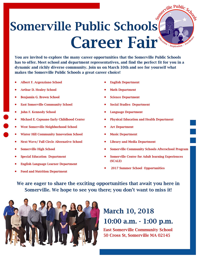 Flyer for 2018 SPS Career Fair