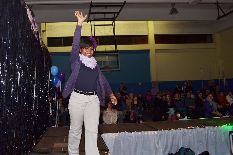 Winter Hill student on runway during the fashion show