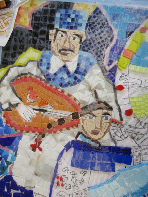 Mosaic at WSNS in progress