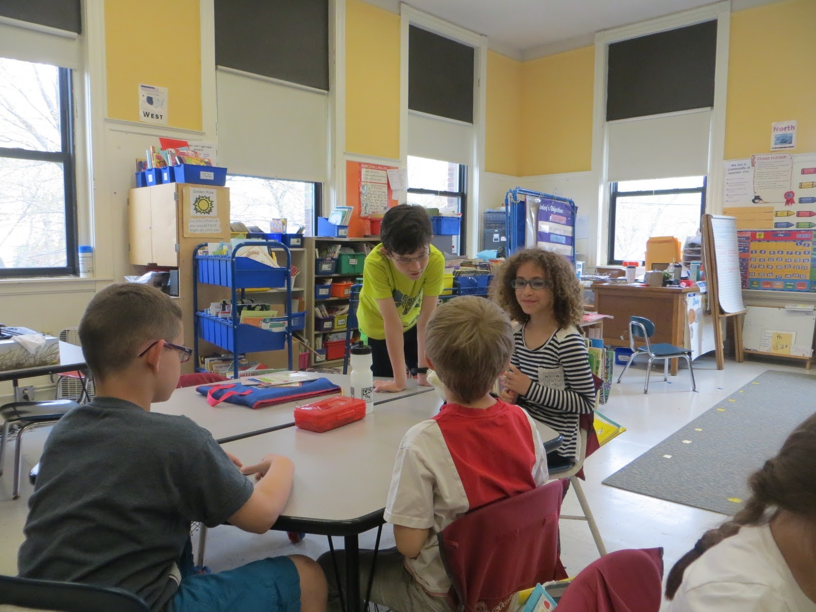 Brown School students working together