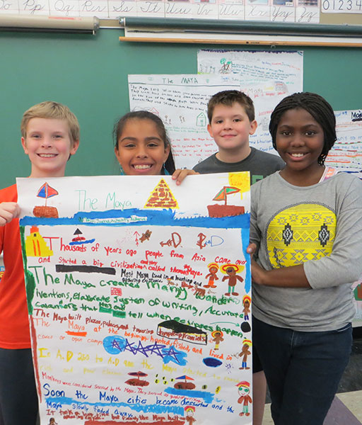 WSNS Students show off their school project